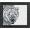 Permin, kit tête d'ours polaire (PE14-4133)