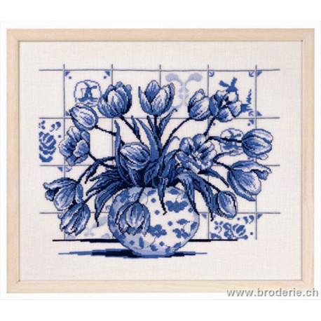 Permin, kit tulipes indigo (PE70-6311)