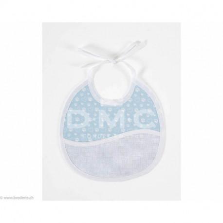 DMC, bavoir 3 mois empreinte d'ours, bleu (DMC-RS2653DB)