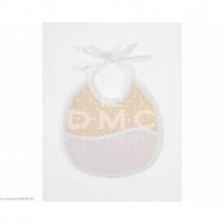 DMC, bavoir 3 mois empreinte d'ours, pèche (DMC-RS2653DP)