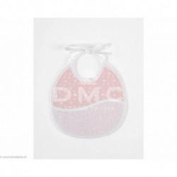 DMC, bavoir 3 mois empreinte d'ours, rose (DMC-RS2653DR)