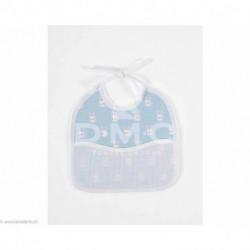 DMC, bavoir 3 mois lapins, bleu (DMC-RS2652CB)