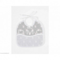 DMC, bavoir 3 mois lapins, bleu (DMC-RS2652CG)