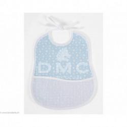 DMC, bavoir 6 mois empreinte d'ours, bleu (DMC-RS2653HB)