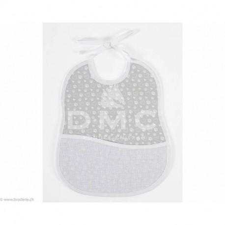 DMC, bavoir 6 mois empreinte d'ours, gris (DMC-RS2653HG)