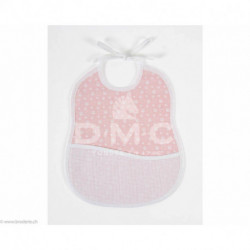 DMC, bavoir 6 mois empreinte d'ours, rose (DMC-RS2653HR)