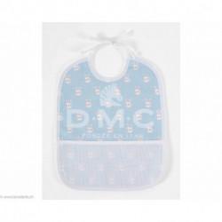 DMC, bavoir 6 mois lapins, bleu (DMC-RS2652GB)