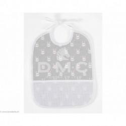 DMC, bavoir 6 mois lapins, gris (DMC-RS2652GG)