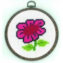 Permin, kit enfant avec cadre - fleur (PE13-0331)