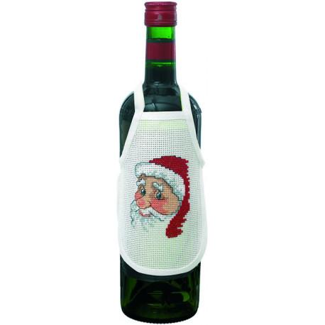 Permin, kit 4 tabliers pour bouteille de vin Père-Noël (PE78-0518)