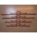 Permin, Suspense métallique rouge de 55cm (PE5125-55)