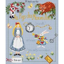 Madame la Fée, grille Alice au pays des merveilles (FEE028)
