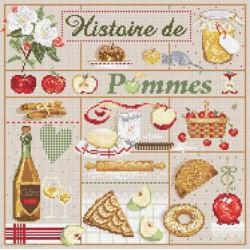 Madame la Fée, grille Histoire de pommes (FEE066)