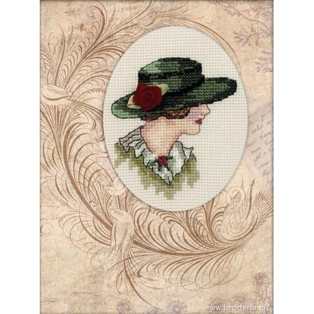 RTO, kit carte de voeux demoiselle au chapeau (RTOCH802)