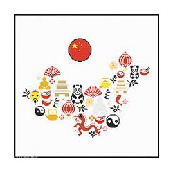 Marie Coeur, kit Carte Chine (MC1971-4795)