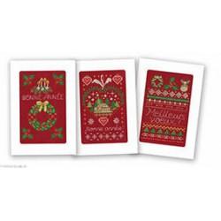 Marie Coeur, kit lot de trois cartes bonne année (MC1110-4590)