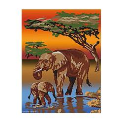 Marie Coeur, kit Savane éléphants (MC1709-4723)