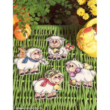 Orchidea, kit 4 figurines Moutons (OR7615)