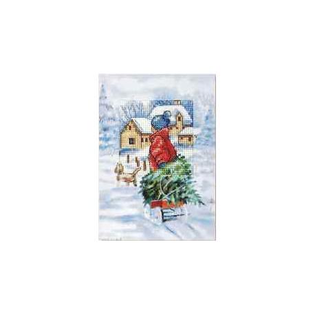 Orchidea, kit Carte de voeux enfant dans la neige (OR6232)